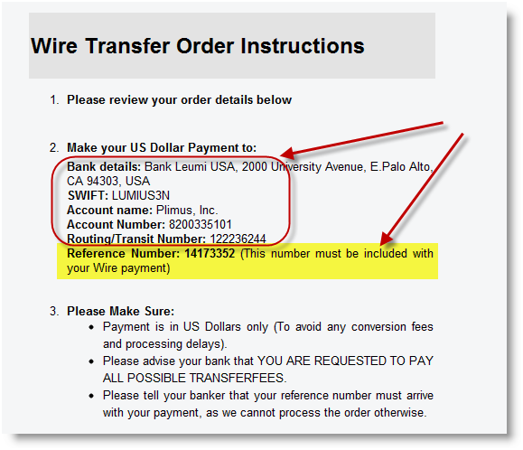 How to payment through wire transfers surveytogo studio